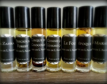 LES TAROTS Perfume Oil- Patchouli, Rose, Vetiver, Natural Perfume, Aromatherapy, Essential Oil,Vegan Perfume, Aromatherapy