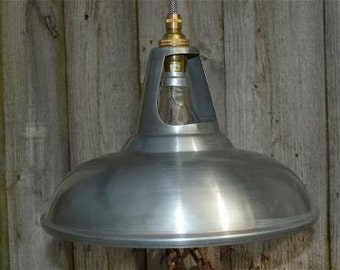 Vintage white zinc coolicon ceiling light vented hanging lamp shade WZG3