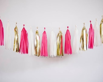 Ivory Gold Cranberry Tassel Garland, Cranberry Garland, Boysenberry Tassel Garland, Boysenberry Wedding Decor, Boysenberry Bridal Shower