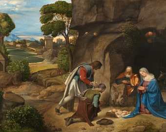 Giorgione: The Adoration of the Shepherds. Fine Art Print/Poster. (001930)