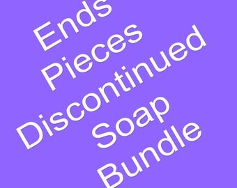 Ends, Pieces, Discontinued soap bundle. Handmade Soap, Homemade Soap, Cold Process Soap, Artisan Soap, All Natural Soap, Old Fashion soap