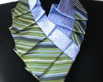 Silk Necktie Necklace - Pleated Silk Ascot - Unique accessory