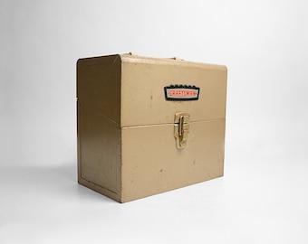 Old Metal Box, Craftsman Tool Box, Metal Tool Box, File Box, Rusty Metal, Supply Box, Storage Box, Industrial Tool Box, Industrial Decor