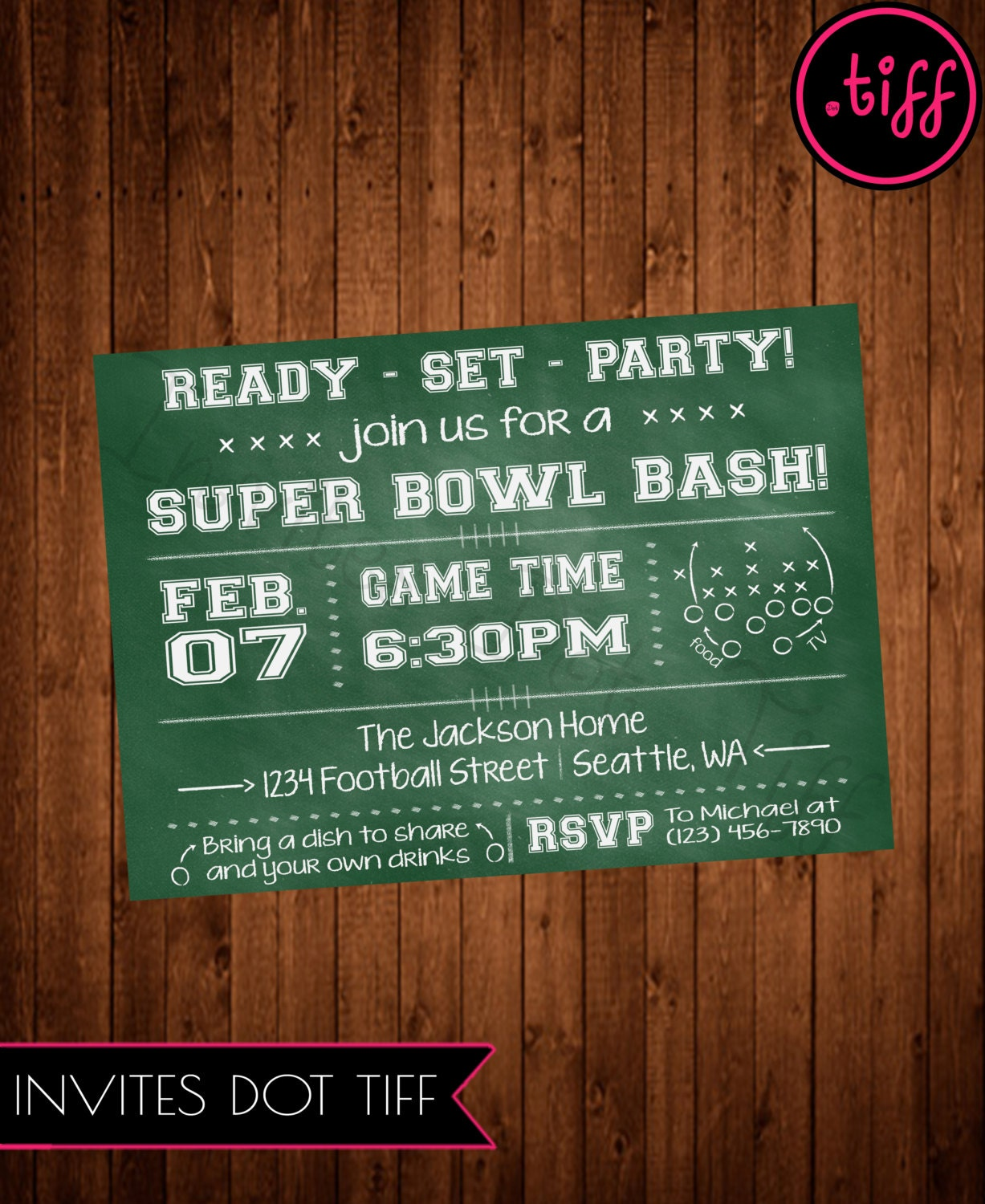 It's just a graphic of Juicy Super Bowl Party Invitations Free Printable