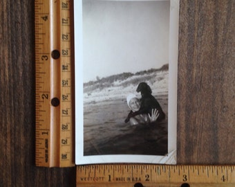 Vintage Photo Lady Swimming