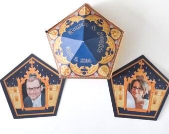 Wedding Harry Potter Favors - Chocolate frog box - Honeydukes - Digital file - DIY