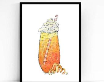 Orange Dreamsicle Print