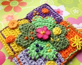 Crochet applique Clover Patchwork Pattern