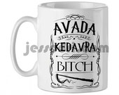 Mug cup ceramic avada kedavra bitch harry potter magic wand 325ml