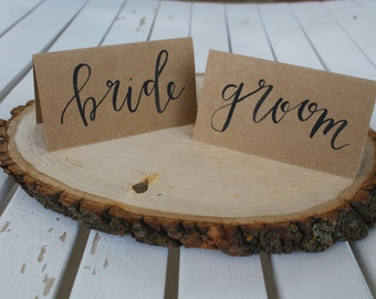 Wedding Reception Kraft Paper Place Cards
