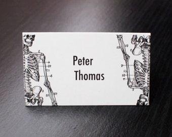 Custom skeleton place cards