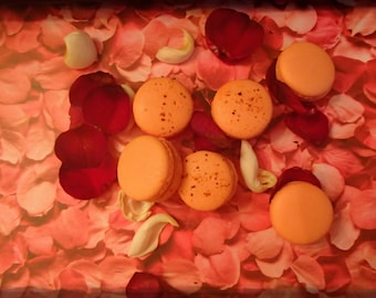 Rose Macaron French Macarons Almond Cookies Rose Macaroon with buttercream 12 pc
