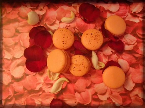 Rose Macaron French Macarons Almond Cookies Rose by Frenchmacaron