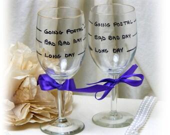 JOKE WINE GLASSES . . .  funny gag gift