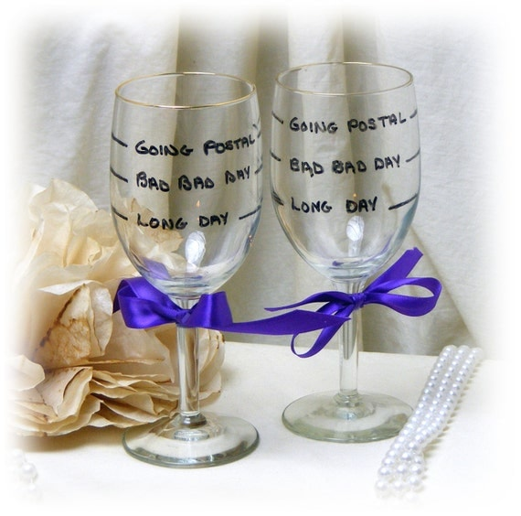 JOKE WINE GLASSES . . .  funny gag gift