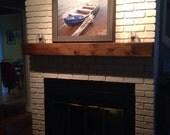 "Fireplace mantel.60"" Long x 5.5"" Tall x 5.5"" Deep.Floating shelf.Fireplace Mantle .TV Shelf .Wooden Mantel.Home Decor.Fireplace Decor."