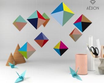 DIY octahedron poster set