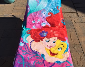 Ariel My Little Mermaid Beach Towel - Personalized Beach Towel