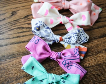 Choose ANY 2 Fabric Bows, Fabric Bow, Hair Bow, Hair Clip, Toddler Bow, Baby Bow, Alligator Clip
