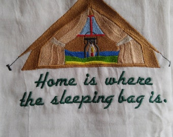 Home is where thee sleeping bag is