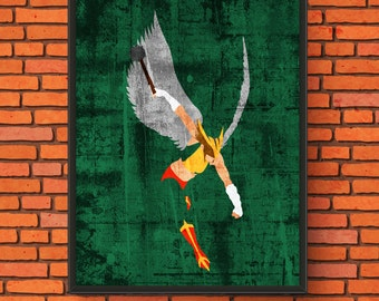 Minimalism Art - Hawkgirl Print
