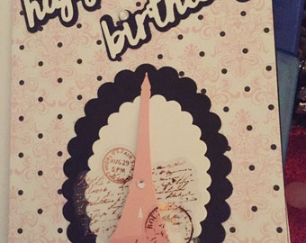 Parisian Birthday Card