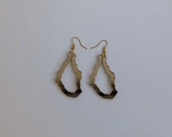 Montserrat Outline Earrings Lashelljewellery Hoop Earrings