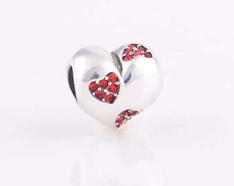 Heart of Hearts Charm, 925 sterling silver
