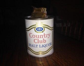 Vintage COUNTRY CLUB Malt Liquor Table Lighter