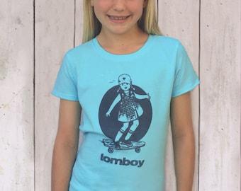 Girls Shirts Vintage Skateboard Shirt Skateboarder Gift Graphic Tee Vintage T Shirt