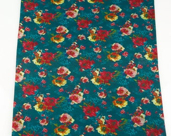 Floral Printed Knit Jersey Fabric 20 Inches in Length