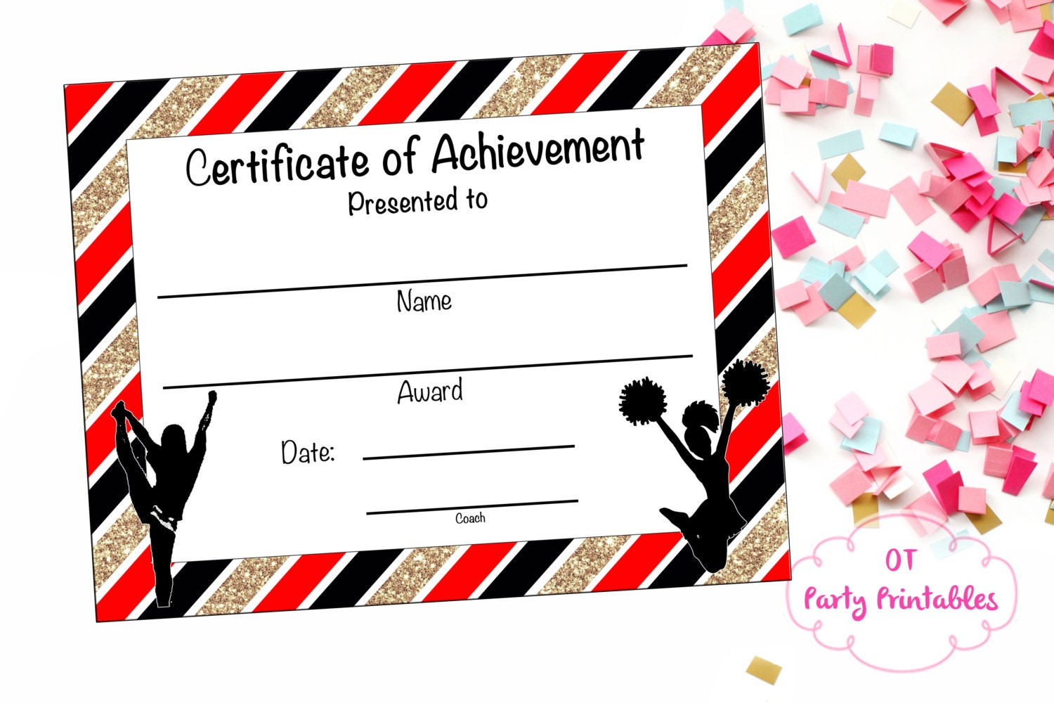 Cheerleading Certificate Cheerleading Award Cheerleading