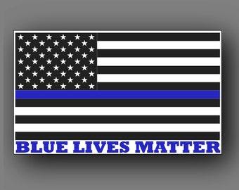 Blue Lives Flag Decal Sticker