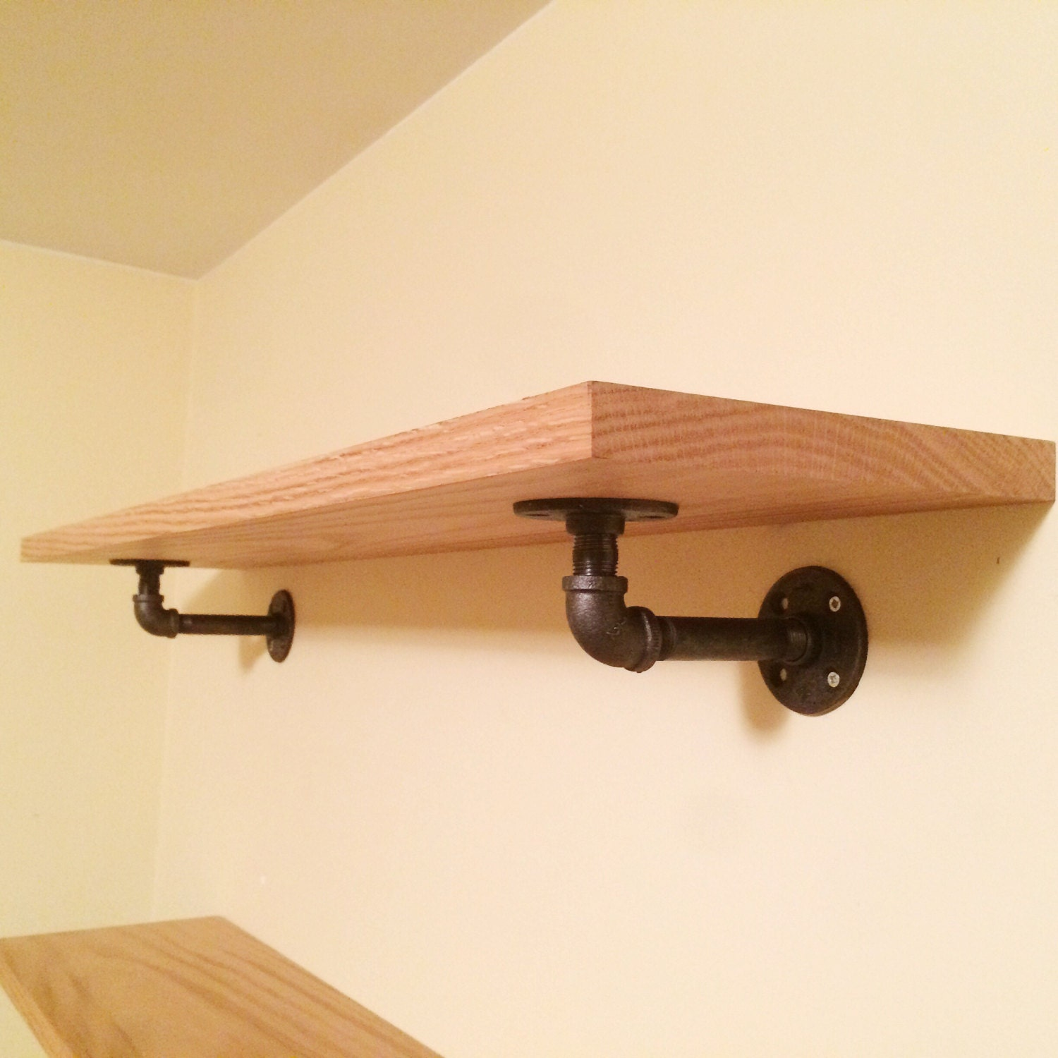 Superb img of Rustic Industrial Pipe Shelf Wood Shelf by DuffyIndustrialHome with #B16E1A color and 1500x1500 pixels
