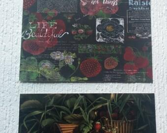 Strawberry Theme Wall Art Prints