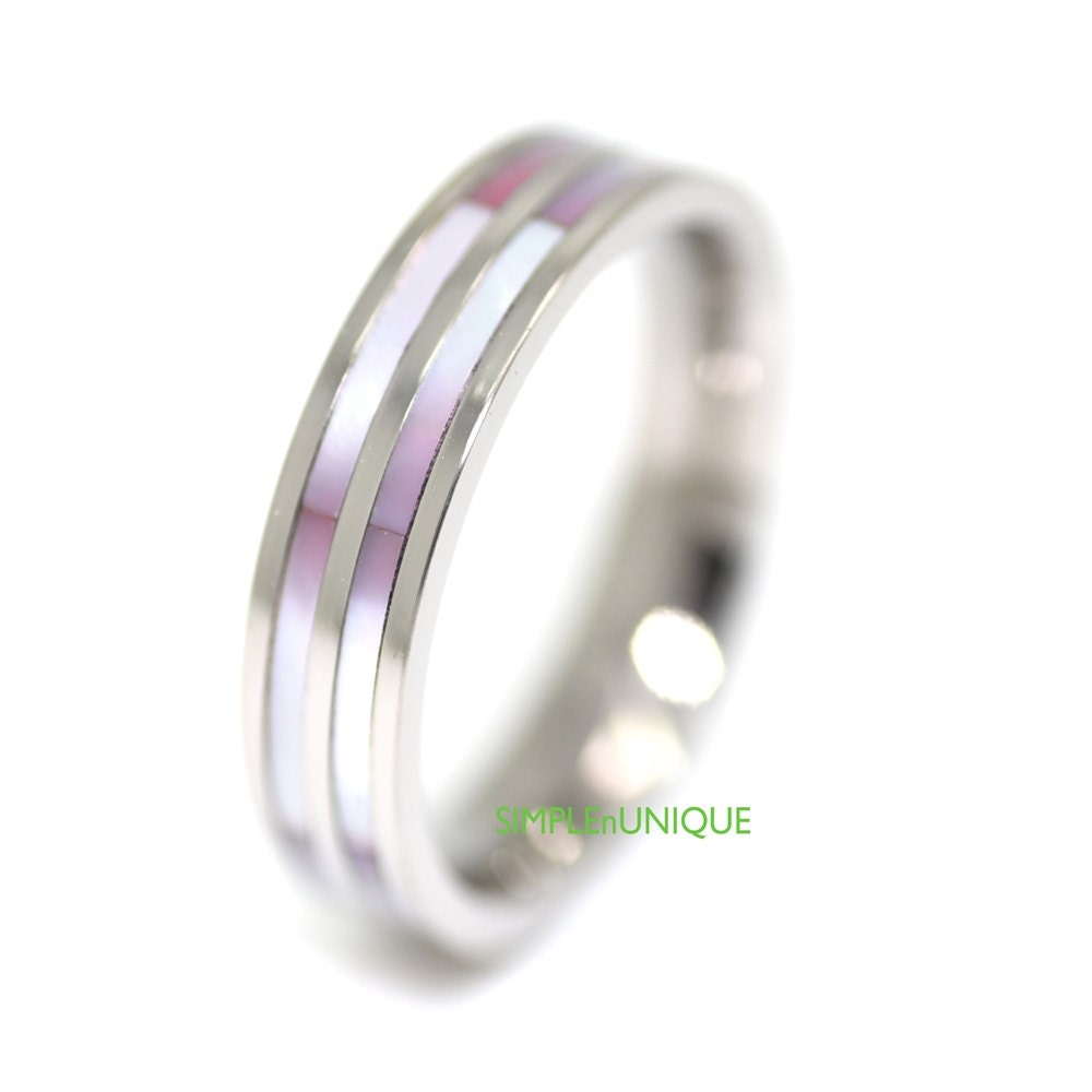 womens promise ring womens titanium wedding band by