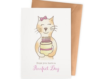 "Kitty ""Purrfect Day"" Birthday Card"
