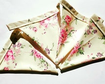 Outdoor Bunting | Floral Bunting | Garden Bunting | Rainproof Bunting | Weather Resistant | Outdoor Party Decor | Garden Party Decor