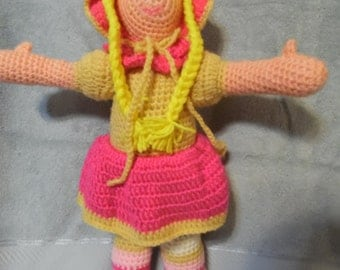 "Totally Crocheted Doll named; ""Lora"""