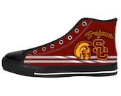Men's Sneaker USC Trojans Custom Canvas Sneaker for Mens