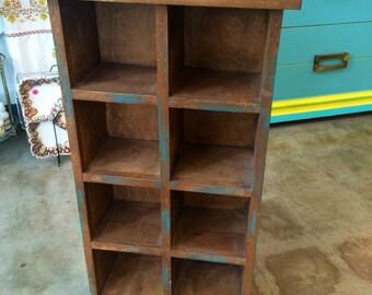Hand Made Painted Rustic Wood Shelf