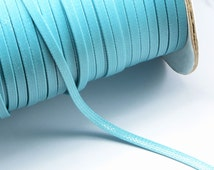 32ft (9.75m) (10.66 yards) 4mm Flat Waxed Polyester Cord in Turquoise, Thin Ribbon. Great Cord Supplies for your Jewelry Projects #SD-S8095