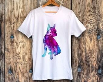 Boston Terrier T-shirt, Unisex T-shirt, ring spun Cotton 100%, watercolor print T shirt, T shirt art, T shirt animal,XS, S, M, L, XL, XXL