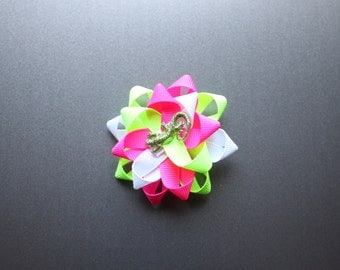The Mixed Up Chameleon themed bow