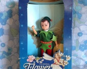 MIB Vintage Hornby Flower Fairies 1983 Holly Pixie 1985 Cicely Mary Barker 1980s faerie dolls boy fantasy fairy doll Christmas winter toy