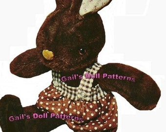 "14"" Huggy Bunny Pattern to Make A Boy Rabbit or A Girl Rabbit"