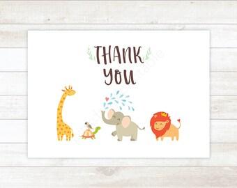 safari baby shower thank you card baby shower thank you card safari animals baby