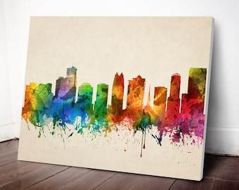Orlando Skyline Canvas Print, Orlando Cityscape, Orlando Art Print, Home Decor, Gift Idea, USFLOR05C