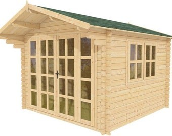 Pre made guest house storage shed office space pool house for Guest cabin kits