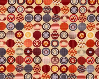 Cat Paw Fabric | Kanvas Ziggy Cat Ziggy Dot Khaki | sold by the Fat Quarter